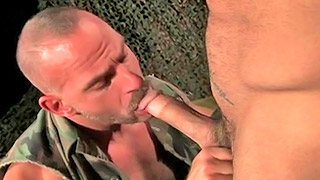 Two horny army studs haver fantastic sex after a drill
