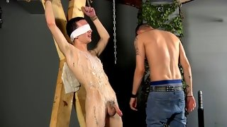 Enticing latino wanking his sausage in the nature
