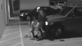 Sweet brunette ex gf gives head on the parking lot