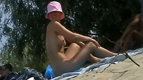 This gal doesn't mind being naked in public