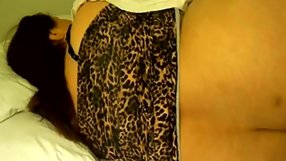 Big booty slut gets filmed by her man