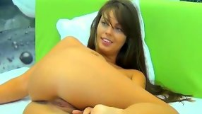 The babe is rubbing her pussy for the webcam fans