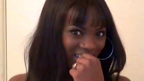 See my cute ebony ex girlfriend showing off her smooth body.