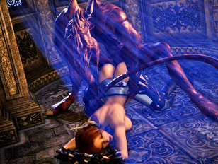 Kinky threesome with goblins and a hot elf