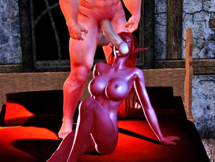 Fantasy babes getting fucked by monsters - The summoning