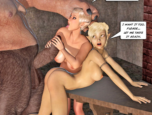 3d monster porn with horny werewolves