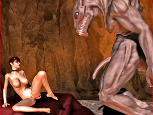 3d hd porn with numerous monsters' dicks and pussies
