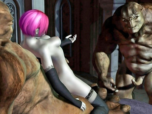 Hot threesome with barbarian princess and her guards