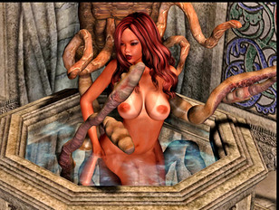 Sexy girls get fucked by tentacle monsters