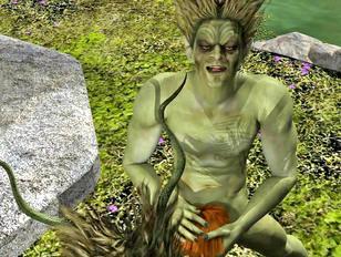 Wild wood trolls attack and rape cute elf girl