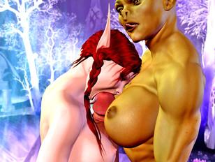 Slutty elven girl gives an incredible blowjob