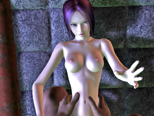 Hot 3d monster porn threesome