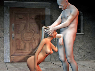 Lusty elven babes fucked by foul creatures