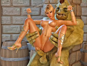 Hot blonde fucked senseless by an orc
