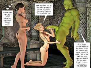 Foxy 3D babes having sex with ugly monsters