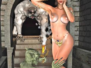 Horny demons gangbang and creampie innocent nuns
