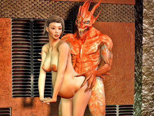 Abducted hot babes raped brutally by evil aliens
