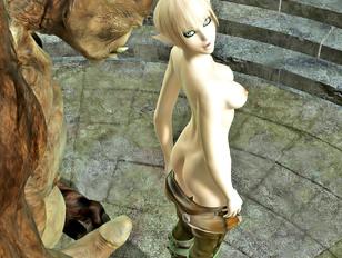 Sex loving elf doesn't mind fucking an ugly troll