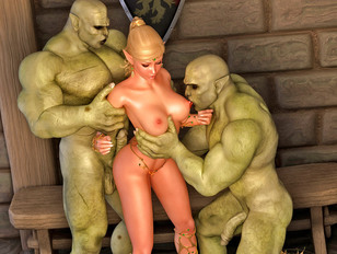 Perverted 3d fantasy sex with horrible creatures and cuties