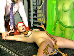 Slave girls covered head to toe in gooey green monster cum