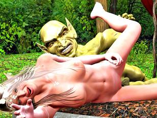 Teens fucked hard in monsters 3d sex pics