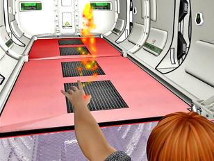 Hot spaceship crew member banged by an alien