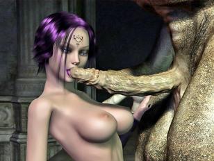 Kinky troll tribe captures a busty elf