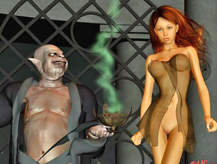 Kinky vampire lords abuse their sexy prey