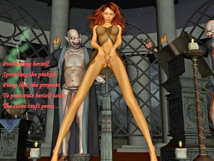Enchanting princess is having nuts with her hd anime sex vampire!