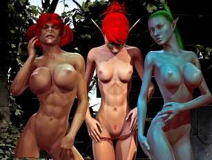 Best of busty 3d babes posing topless