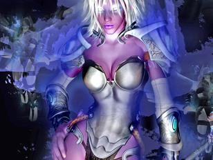 Hot alien girls showing off their killer tits