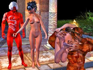 Satanic priest enjoys watching his demon desecrate virgins