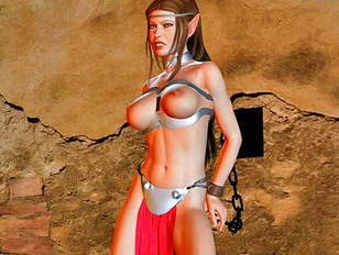 Slutty elven babes getting titfucked and jizzed on