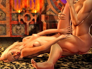Lusty demon visits from hell for some wet pussy