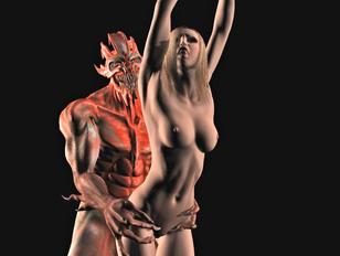 Sex starved horny 3D girls craving for flesh