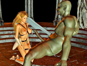 Helpless girls become victims of horny demons