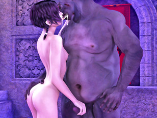 3dxxx grouping sex with bi ladies and huge monsters