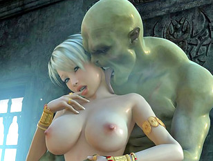 Busty she elf attacked by some horny vampires