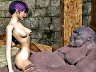 Elven girl knocked up after a gangbang