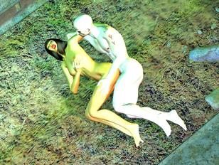 Undead awaken to drill a horny widow