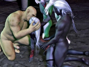 3D girls forced to have sex with brutes