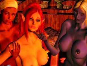 Kinky priest keeps a hot elf as his sex slave