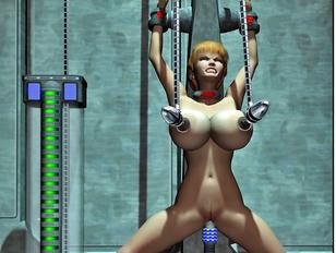Kinky aliens hook up hotties to fucking machines