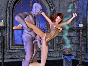 Vampires xxx with old Dracula and cute slut in lingerie