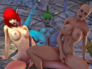 Big tits 3d and hard cock that will be popping pussies of elves