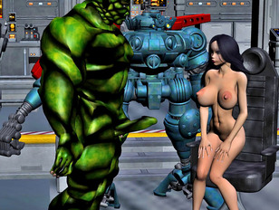 Busty babes having some real cyber xxx action