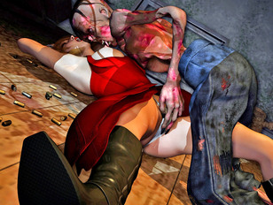 3d torture of sluts by zombies, green monsters and trolls