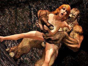 3d evil XXX collection of hardcore threesomes with monsters
