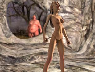 Kinky monsters molesting and fucking petite elves