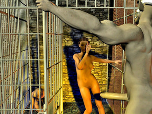 3dbabe from cage was raped hard with monsters and tentacles